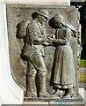 SD3128 : War memorial detail (2) by Gerald England