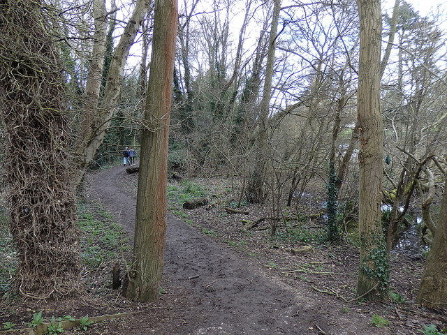Path by the River Leam, Leamington