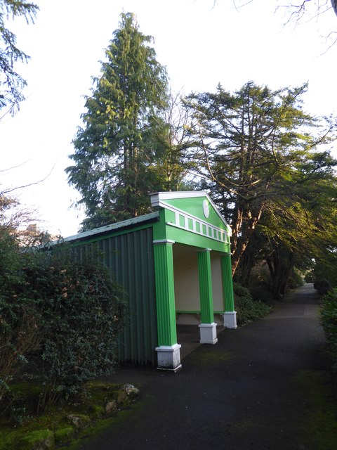 Belvedere and Shelter for visitors to Johnston Gardens