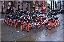 SJ8397 : A Group of Mobikes in St Peter's Square by David Dixon