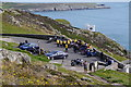 SH2082 : Motorbikes near South Stack Lighthouse, Holy Island, Anglesey by Phil Champion