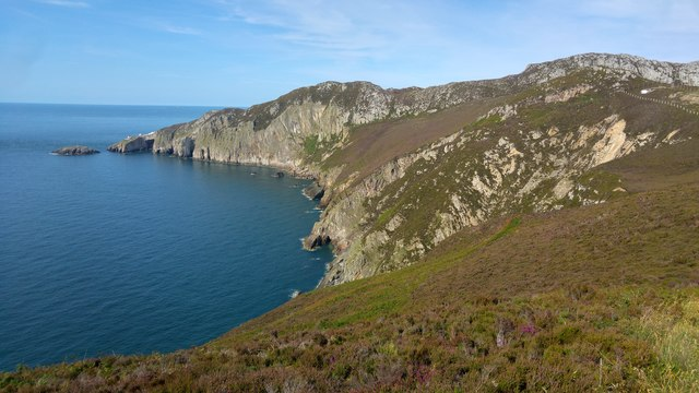 View towards North Stack, Holyhead Mountain, Holy Island, Anglesey