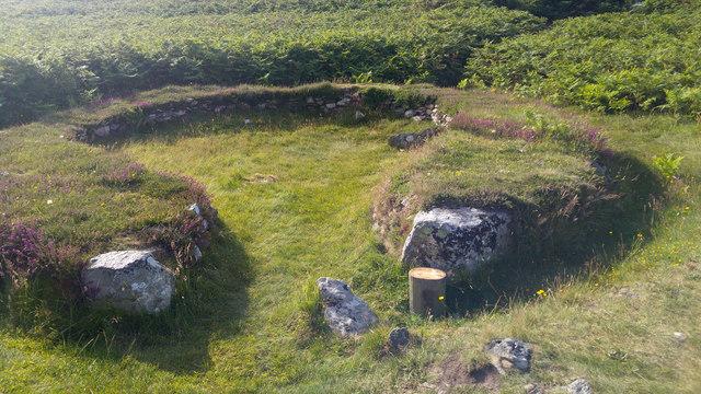 Hut at Ty Mawr Hut Circles, Holyhead Mountain, Holy Island, Anglesey