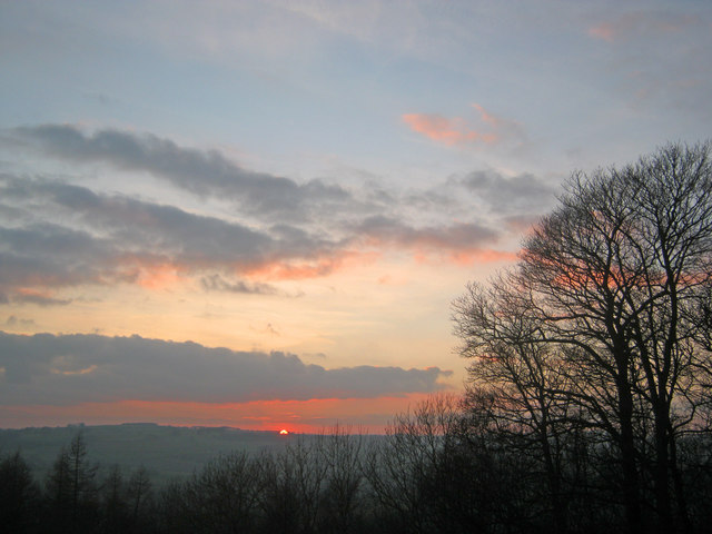 Sunset above Bakewell