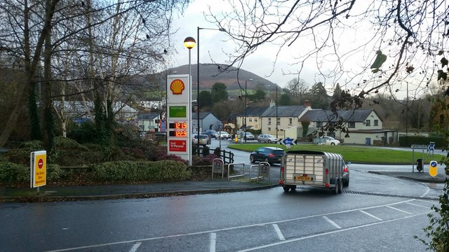 Roundabout on the Merthyr Road