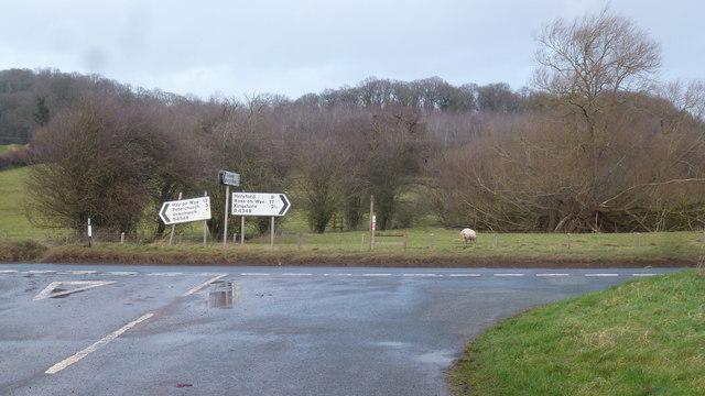 Signage on the B4348