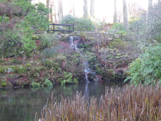 Waterfall in Johnston Gardens