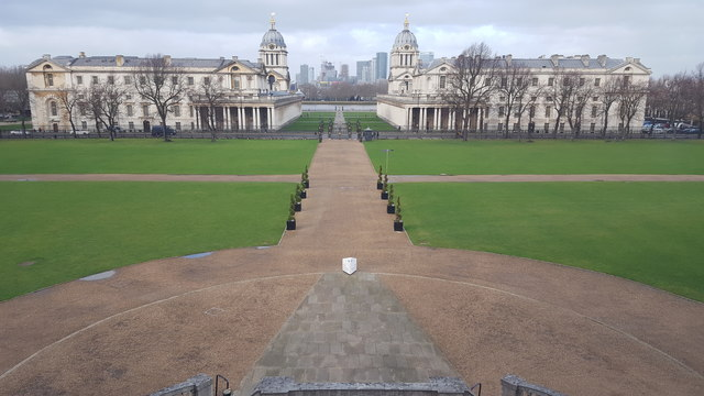 Royal Naval College from the Queen's House, Greenwich