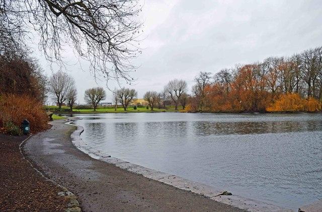 The lake at Alvaston Park, Derby