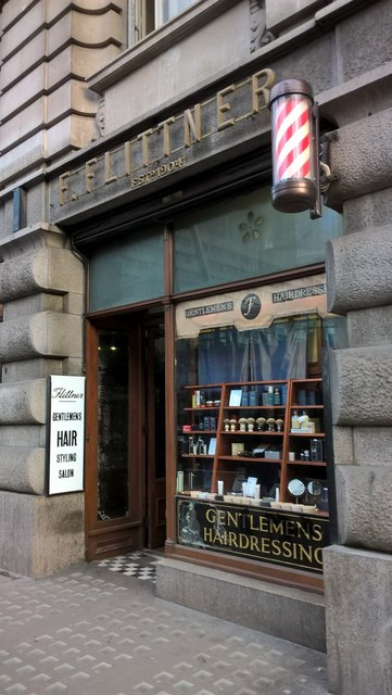 Traditional men's barber's shop on Moorgate, EC2