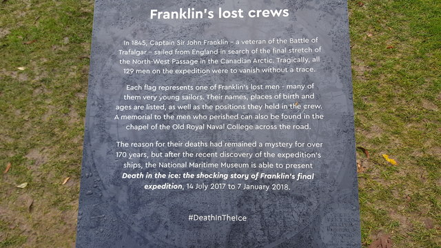 Memorial to the Franklin Expedition, Greenwich