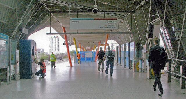 Stratford (Regional) station, DLR platforms, 2009