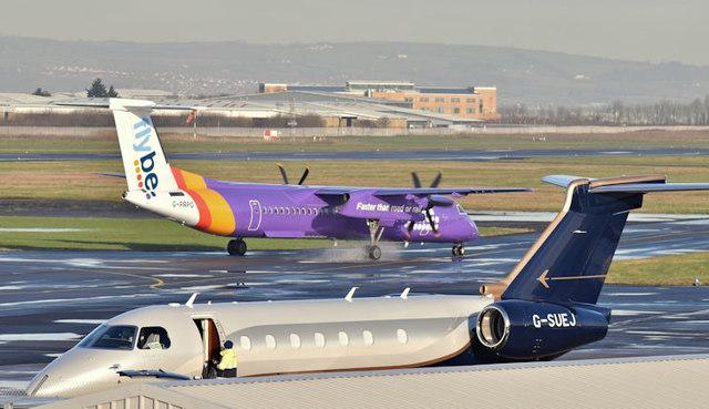 G-SUEJ, Belfast City Airport (January 2018)