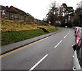 SO3014 : Towards a bend in the B4233, Abergavenny by Jaggery