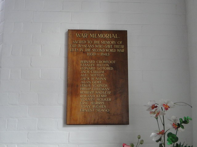 Diss Secondary School Second World War Memorial