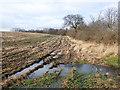 NZ2747 : Waterlogged field entrance beside Mill Lane by Trevor Littlewood