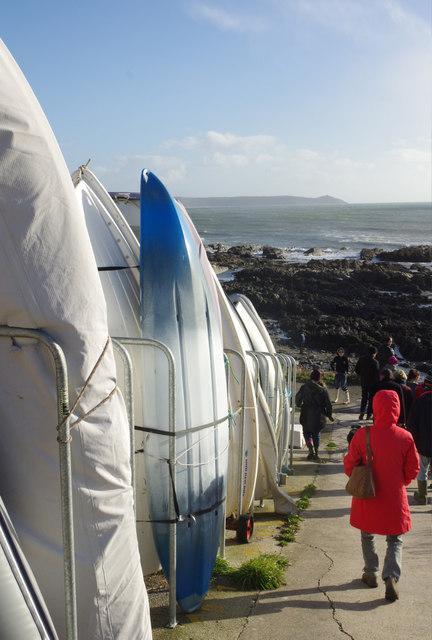 Kayaks at Portwrinkle