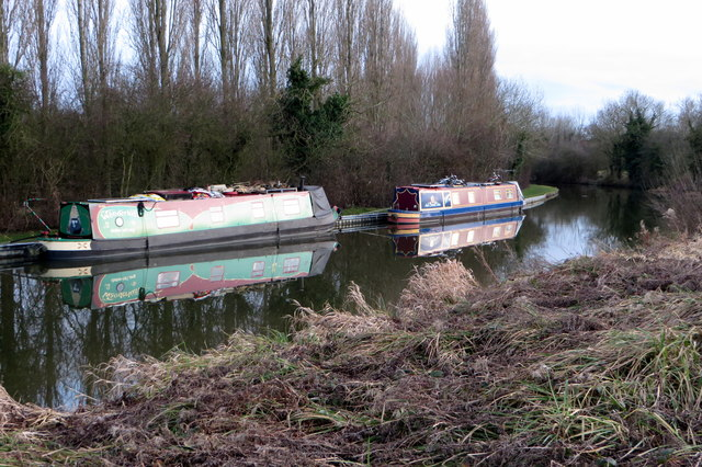 Barges on the Grand Union Canal