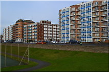 TQ2704 : Seafront apartments on Kingsway by David Martin