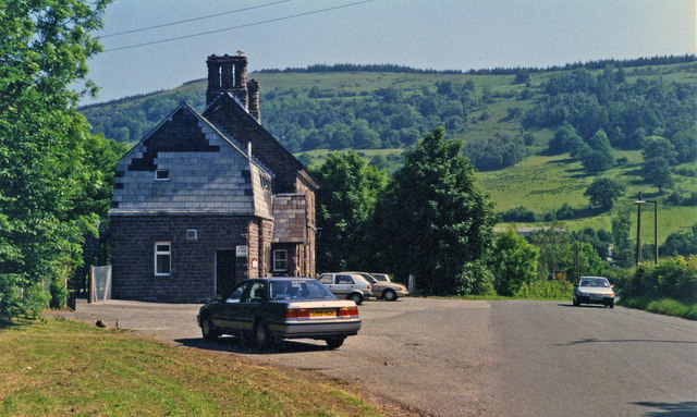 Former Talybont-on-Usk station, 1994