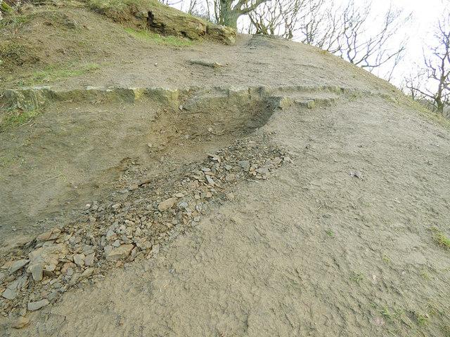 Eroding shale, Post Hill