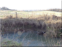 SE2332 : Erosion on Pudsey Beck at Troydale by Stephen Craven
