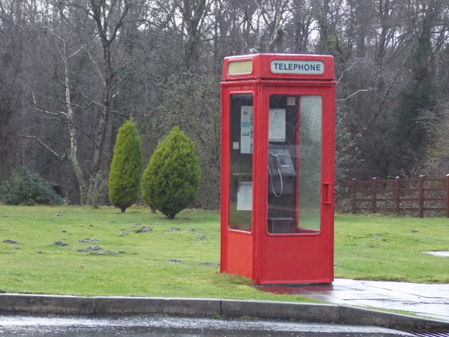 Coldharbour: a K8 phone box at Birchwood Tourist Park