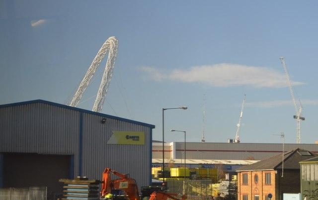The arch of Wembley Stadium