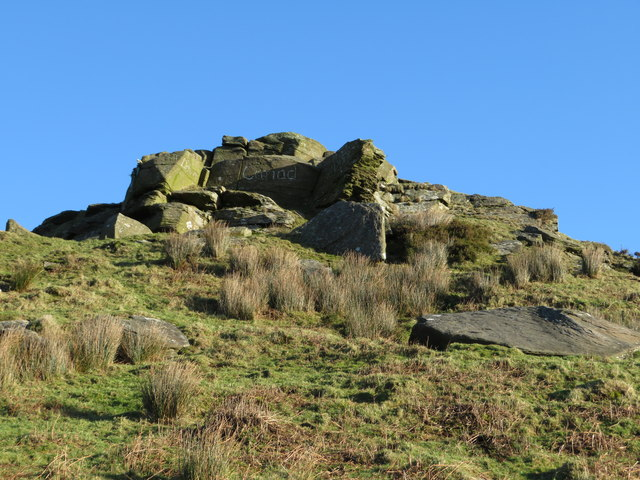 Rocky outcrop on the Taff Ely Ridgeway