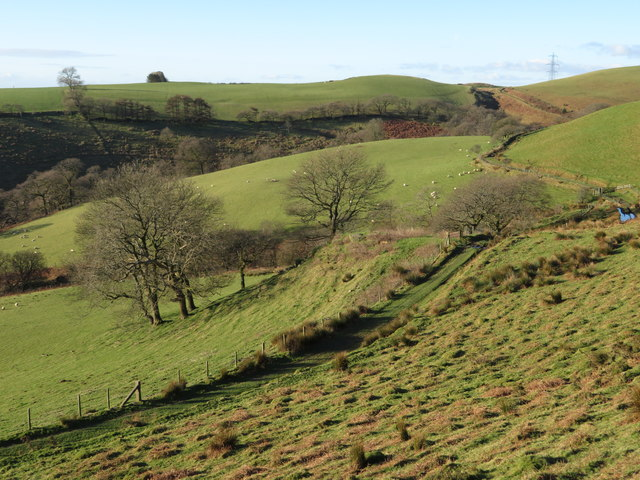 View west over the Taff Ely Ridgeway walk