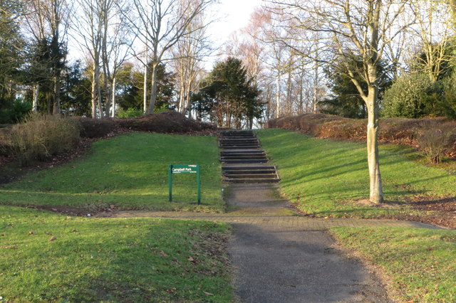 Steps into Campbell Park