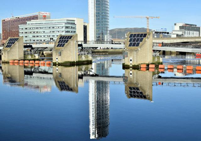 The Obel (reflection), Belfast (January 2018)