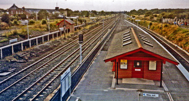 Thirsk station, northward down the ECML, 1993