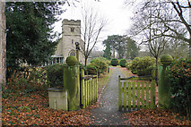 SK1400 : Entrance to St Mary, St Giles & All Saints, Canwell by Bill Boaden