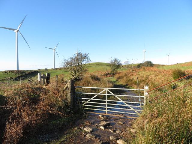 Gate on the Taff Ely Ridgeway walk