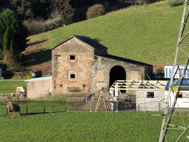 Former mine buildings at the site of South Rhondda colliery