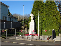 ST0083 : War memorial, Llanharan by Gareth James