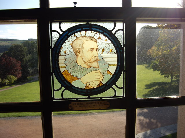 Commemorative stained glass window, Crathes Castle