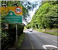 ST2398 : Eastern boundary of Hafodyrynys - Please Drive Carefully by Jaggery
