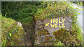 V8068 : Sign pointing to a Holy Well - by N70 Ring of Kerry, east of Blackwater Bridge by Phil Champion