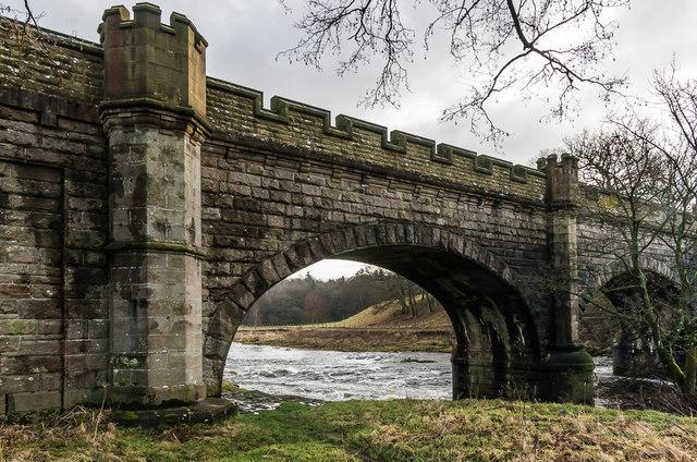 Nidd Aqueduct crossing the River Wharfe