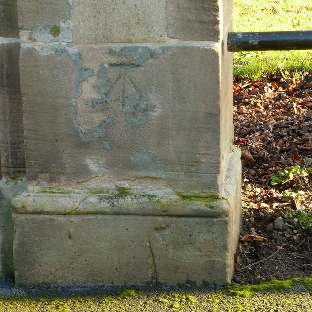 Bench mark, West Park Gates