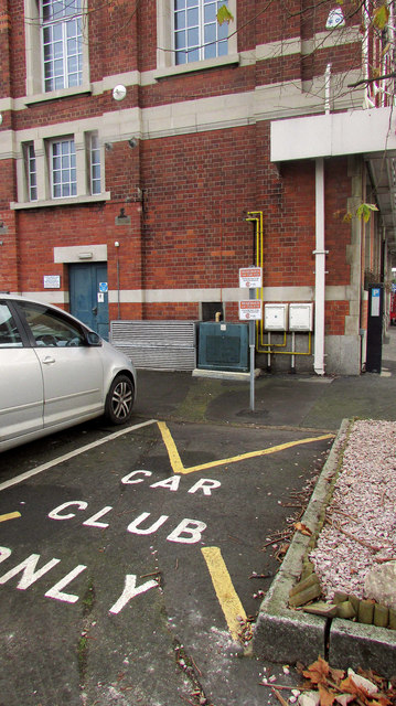 Car club space, Newton Abbot station
