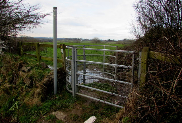 Kissing gate to a public footpath, Pentlepoir