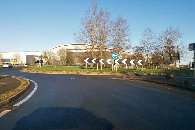 Roundabout on A5