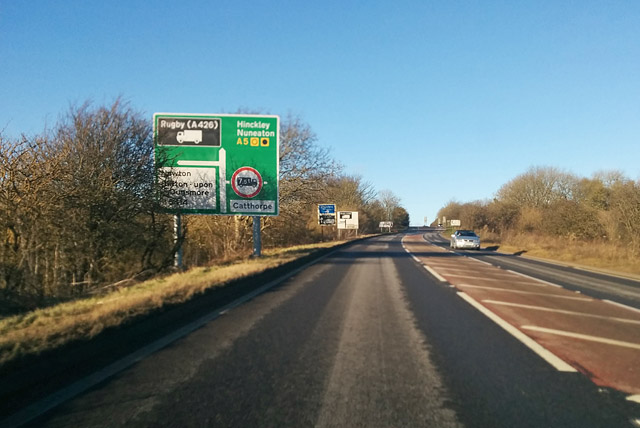 A5 heading north