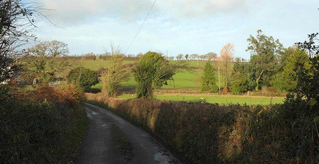 Lane past Goatlake Farm