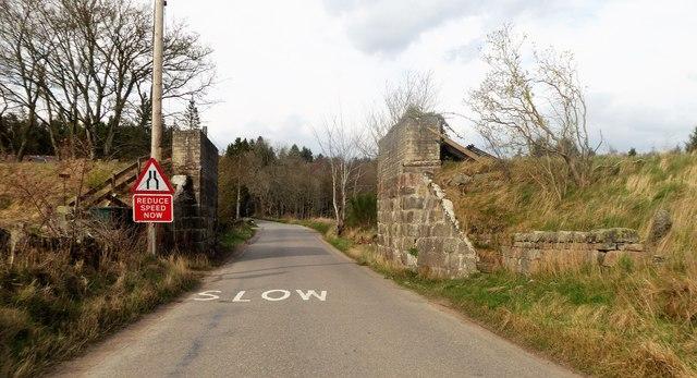 Dismantled Railway Bridge over minor road