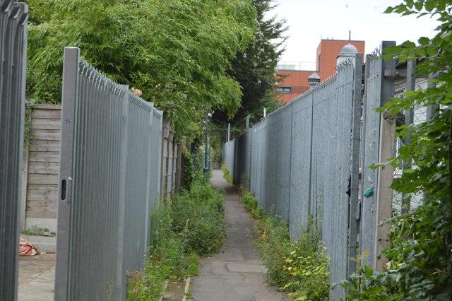 Urban footpath, Morden