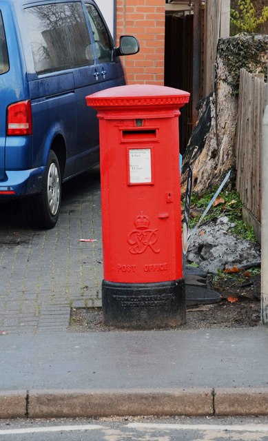 George VI postbox outside 164 Bromyard Road, St. John's, Worcester